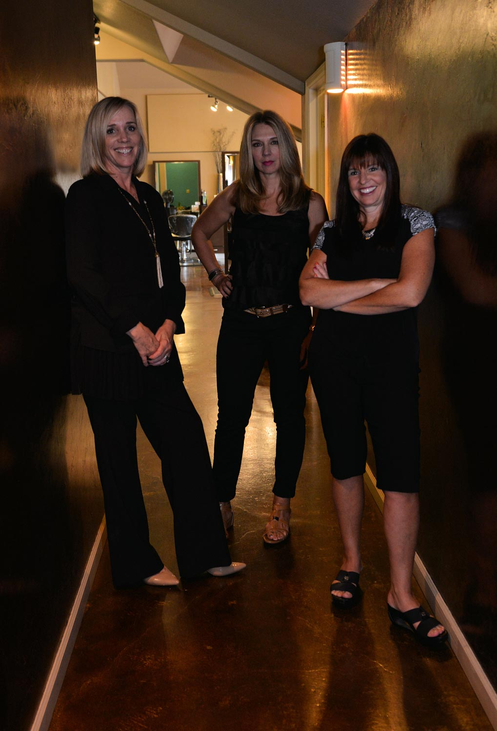Melissa, Danielle and Kim have been partners in Lotus Salon & Spa for years. They've created a warm and welcoming atmosphere, which encourages a higher level of relaxation and beauty.