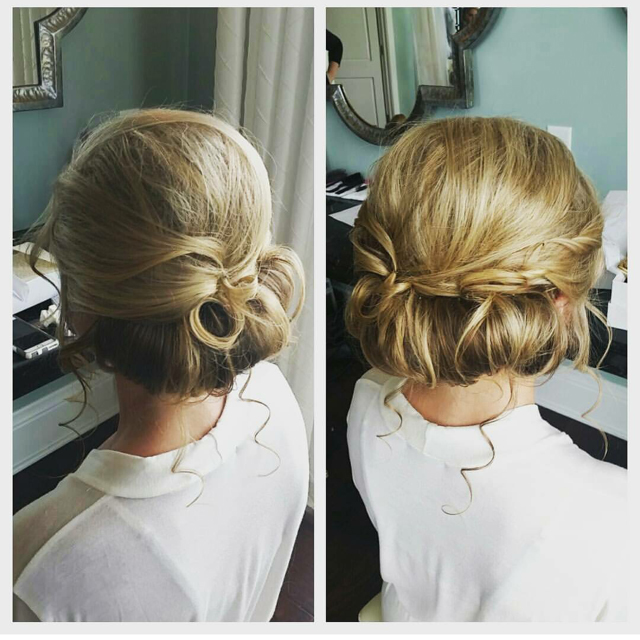 Mixing an exquisite chignon with braiding and ringlets creates a symphony in hair.