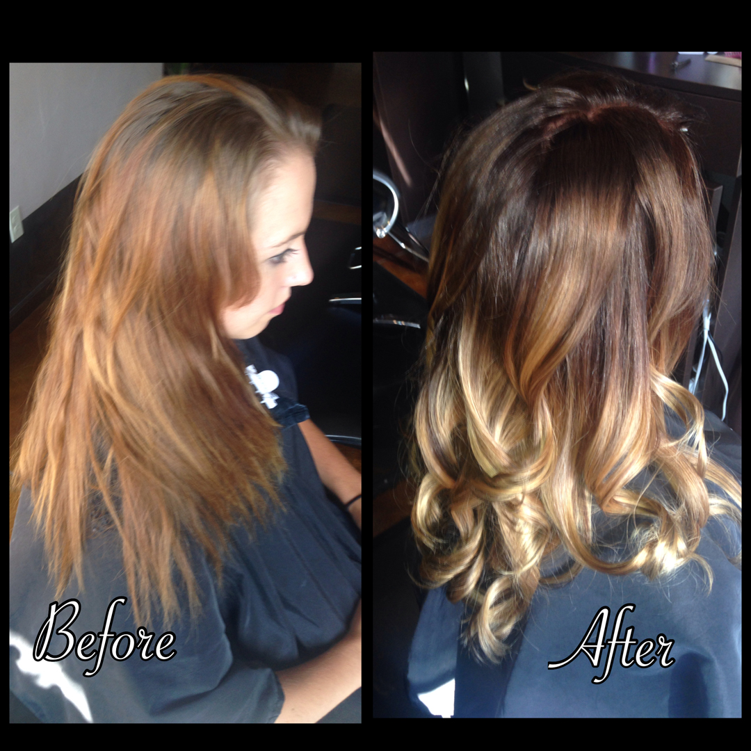 Ombre treatment creates a flow of stunning color and softness.