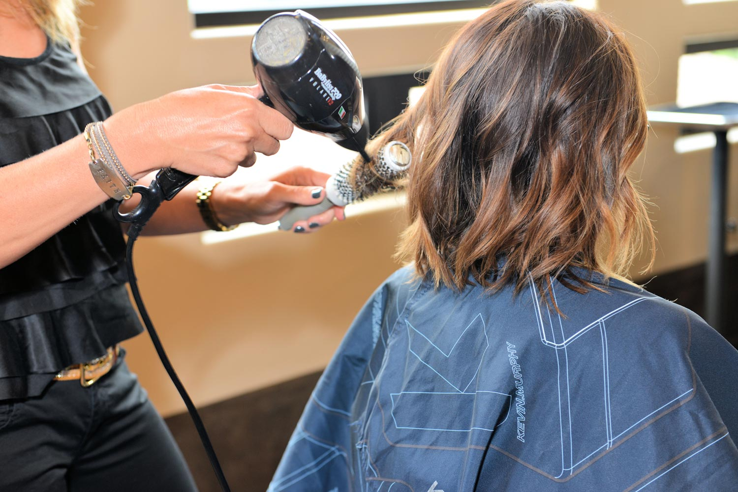 Blow dry technique puts the finishing touch on a great cut.