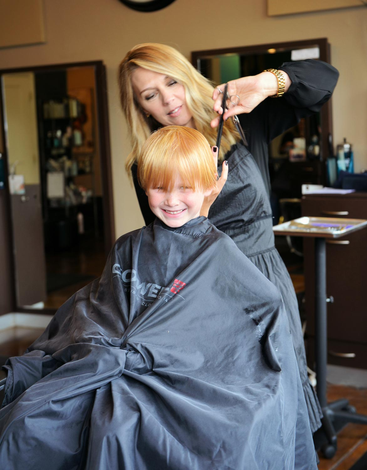 Lotus is a family affair; we cut and style folks of all ages.