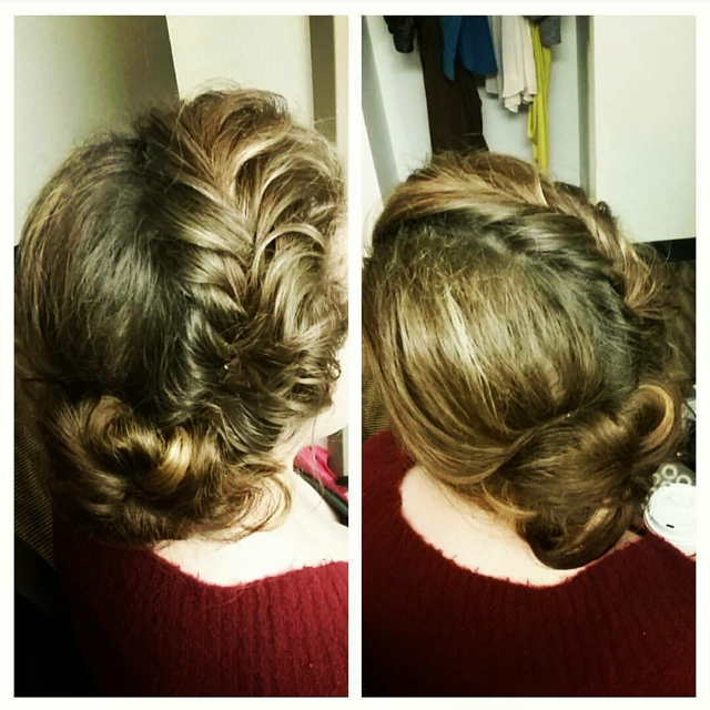 Combine braids with an updo sweep and the result is a stunning creation.