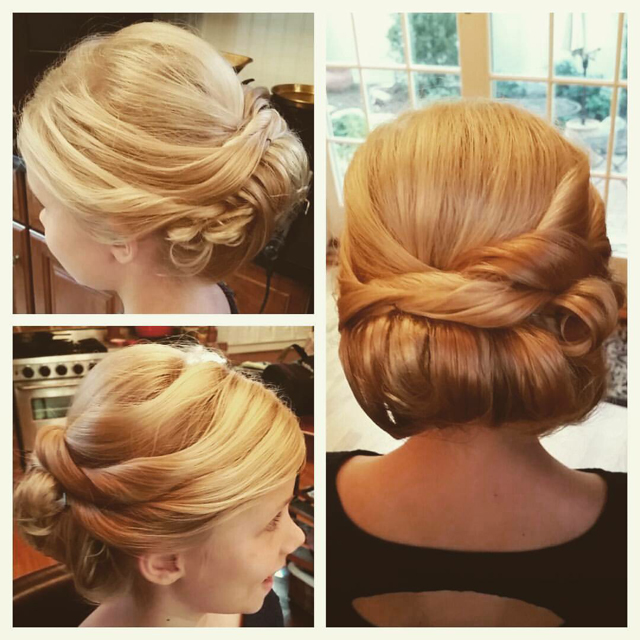 Updos just make every woman feel more elegant. These custom designs set the stage for a memorable event.